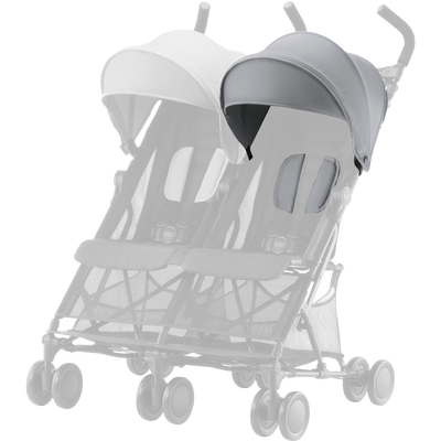 Britax Canopy with Shoulder Pads Steel Grey